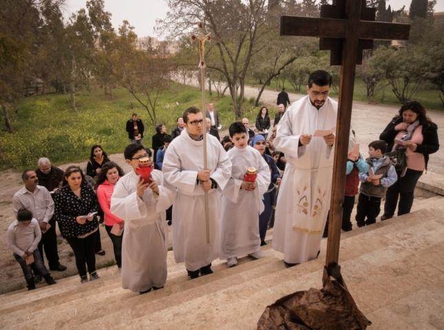 Via Crucis en Siria