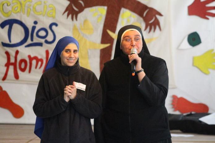 Hermana Guadalupe con la Hermana Aurora