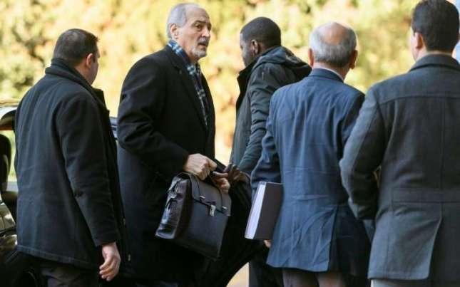 l-ambassadeur-syrien-a-l-onu-et-chef-de-la-delegation-gouvernementale-bachar-al-jaafari-le-23-fevrier-2017-a-geneve